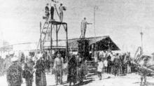 Съемки фильма «Броненосец «Потемкин», фото из газеты, 1925 г.
