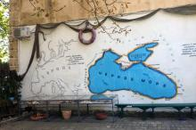 Во дворе мемориального музея К.Г. Паустовского. Фото Е. Волокина. Одесса. 06 сентября 2016 г.