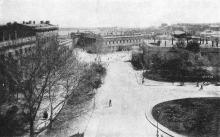Одесса. Театральная аллея. Почтовая карточка. 1918 г.