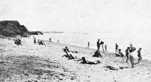 Одесса. Люстдорф. Пляж. Почтовая карточка. Такое же фото есть в брошюре «Одесса. Приморские курорты», 1933 г.