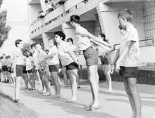В пионерлагере «Молодая гвардия», дружина «Солнечная». 1968 г.