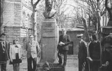 Ул. Щепкина, № 14, химфак ОГУ, памятник Ляпунову, 1983 г.