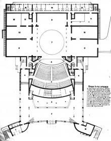 Проект театра, план первого этажа