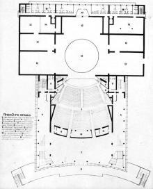 Проект театра, план второго этажа