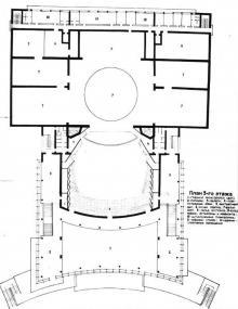 Проект театра, план третьего этажа