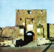 Главный вход. Фото в буклете 1968 г.