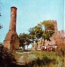 Минарет. Фото И.В. Артюхина в фотоочерке «Белгород-Днестровская крепость», 1975 г.