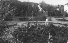 Cанаторий НКЮ. Вид на лестницу от нового здания санатория. Дофиновка. Одесса. 1934 г.