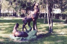Скульптура на территории дома отдыха пограничных войск. Одесса. 2015 г.