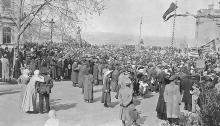 Демонстрация на 1-е мая на Думской площади, 1 мая 1917 г.