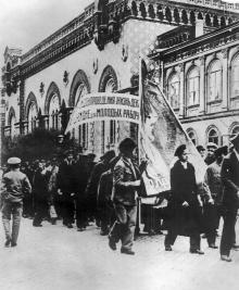 Митинг после вступления Красной армии, апрель 1919 г.
