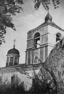 Памятник архитектуры XVI века — бывшая греческая церковь. Фото в книге «Белгород-Днестровский». 1977 г.