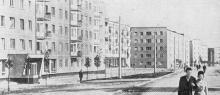 На улице Лазо вырос современный жилой массив. Фото в книге «Белгород-Днестровский». 1973 г.