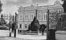 В этом старинном здании находится сельскохозяйственный техникум. Фото в книге «Белгород-Днестровский». 1973 г.
