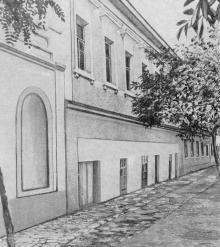 Улица Шабская. В этом доме была подписана Аккерманская конвенция. Фото в книге «Белгород-Днестровский». 1973 г.