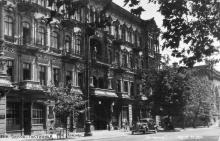Одесса. Гостиница «Красная». Фотооткрытка. Конец 1940-х гг.