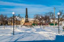 Памятник Василию Рябову. Фото А. Лебедева, 2015 г.