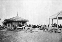Кафе на Николаевском бульваре, справа от Бульварной лестницы, фото конца XIX века