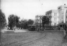 Одесса. Новый дом Совторгфлота в Малом пер. Почтовая карточка. 1931 г.