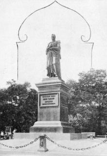 Памятник Воронцову. Открытое письмо. По штемпелю 1902 г.