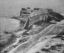 Наиболее разрушена крепость со стороны лимана. Фото в путеводителе «Белгород-Днестровский». 1967 г.