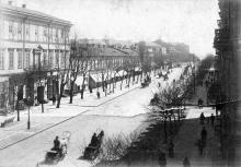 Дерибасовская ул. с видом на дом Вагнера (Ришельевский лицей), конец XIX века