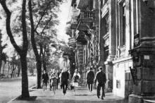 Улица Н.В. Гоголя, справа дом № 12. Фото в фотобуклете «Одесса. Страницы литературы и искусства», 1973 г.