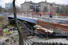 Ремонт моста. Фото Вячеслава Тенякова. 22 ноября 2016 г.