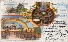 Ресторан «Бавария»: внешний вид, часть грота, Тирольская комната. Открытое письмо