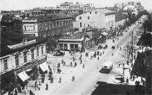 Одесса. Улица Лассаля (угол Халтурина). Почтовая карточка. 1930-е гг.
