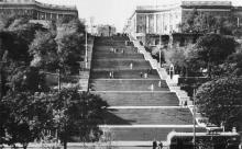 Одесса. Потемкинская лестница. Фото М. Рыбака. Почтовая карточка. 1962 г.