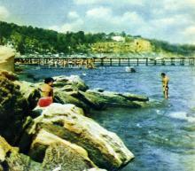 Вид на Большой Фонтан. Фото А. Подберезского из буклета «Одесcа». 1962 г.