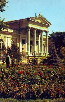 Археологический музей. Фото Д. Бальтерманца в книге-фотогармошке «Одесса». 1970-е гг.