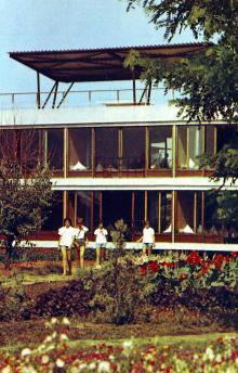 В пионерском лагере «Украинский Артек». Фото Д. Бальтерманца в книге-фотогармошке «Одесса». 1970-е гг.