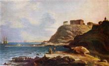 На открытке 1963 г. картина М.Н. Воробьева «Одесса. 1832 г.»