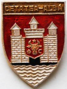 Значок из серии «Гербы населенных пунктов Украины румынского периода», 2000 г.
