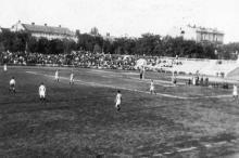 На стадионе «Спартак» в 1942 г.
