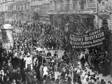 Демонстрация трудящихся Одессы в честь вступления в город Красной армии