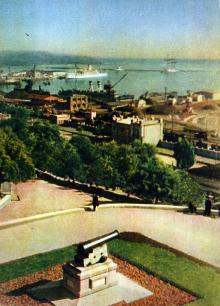 Одесса. Приморский бульвар. Фото А. Кричевского на открытке из комплекта «Одесса», 1959 г.