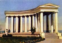 Одесса. Ротонда. Фото А. Кричевского на открытке из комплекта «Одесса», 1959 г.