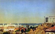 Одесса. Пассажирская пристань. Фото А. Кричевского на открытке из комплекта «Одесса», 1959 г.