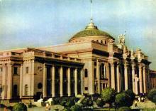 Одесса. Здание вокзала. Фото А. Кричевского на открытке из комплекта «Одесса», 1959 г.