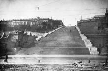 Лестница Б. Фельдмана. Одесса. Почтовая карточка. 1934 г.
