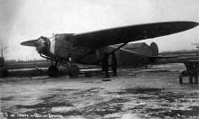 Советский пассажирский самолет К-5 на старте Одесса-Харьков, 1934 г.