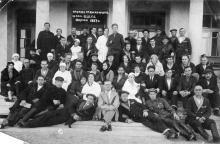 Группа отдыхающих в санатории ВЦСПС. Одесса. 1937 г.