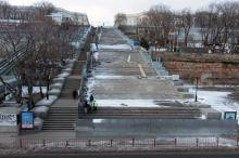 Потемкинская лестница. Фото О. Владимирского. 18 января 2017 г.
