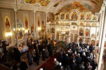 В церкви Рождества Христова. Фото О. Владимирского. Декабрь, 2011 г.