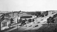 Городская больница на Херсонской улице. Гравюра В. Вахренова. 1870 г.