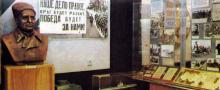 Интерьер музея истории войск Краснознаменного Одесского военного округа. Фото в фотоальбоме «Одесса. Память города-героя», 1989 г.