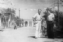 Парк им Шевченко, вход на Ланжерон. 1950-е гг.